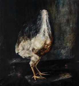 """White chicken""cm 82x89"