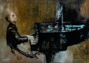 """""""Il Pianista""""cm 86 x 62"""