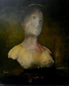 """Busto per La Santa Magnanza""cm 56x70"