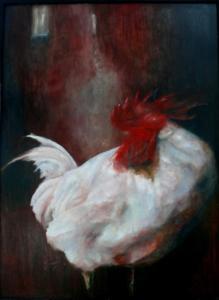 """""""Paesaggio con gallo"""" cm 50x70"""